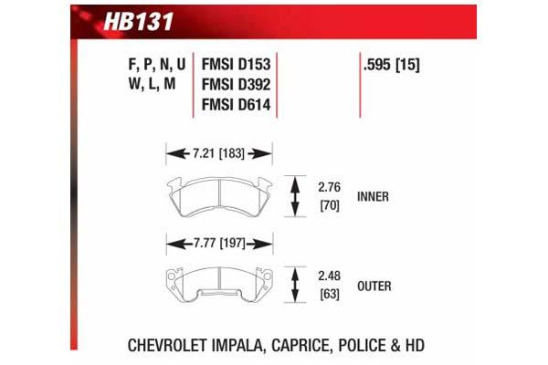 hawk brake pads diagrams HB131