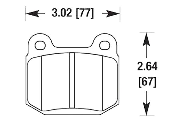 hawk brake pads diagrams HB180