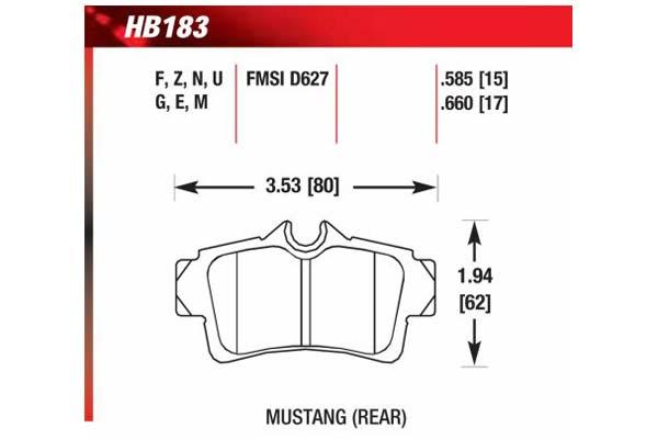 hawk brake pads diagrams HB183