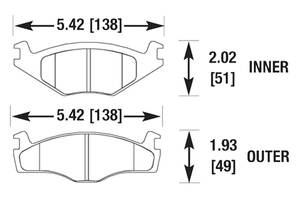 hawk brake pads diagrams HB189
