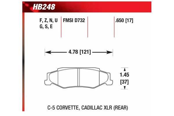 hawk brake pads diagrams HB248