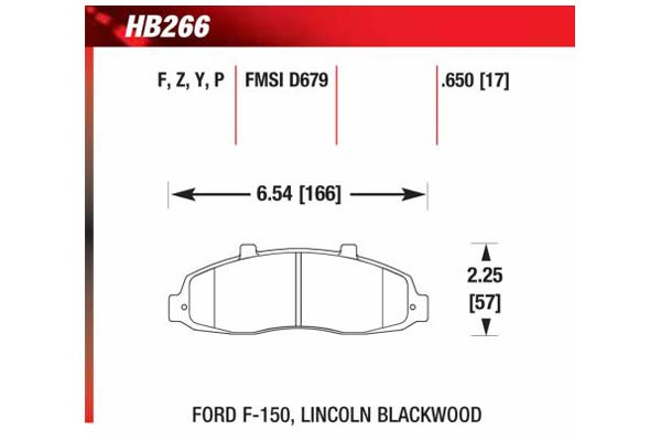 hawk brake pads diagrams HB266
