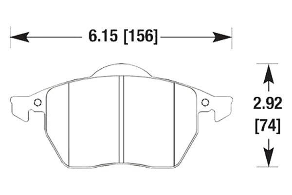 hawk brake pads diagrams HB272