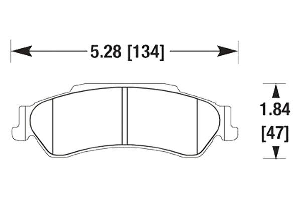 hawk brake pads diagrams HB305