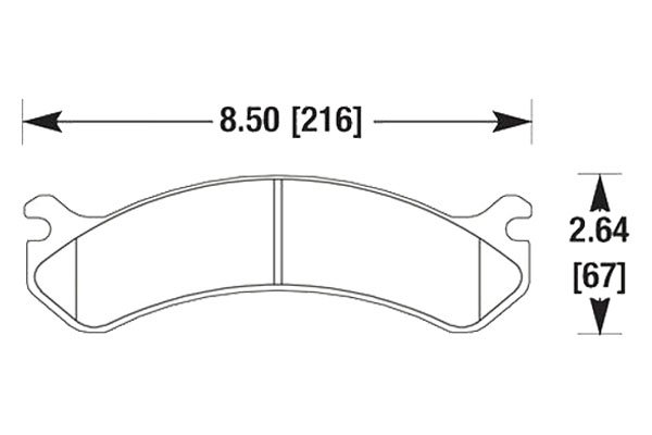 hawk brake pads diagrams HB322