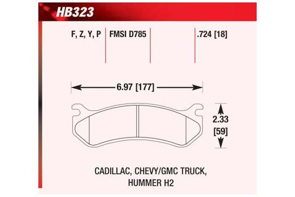 hawk brake pads diagrams HB323
