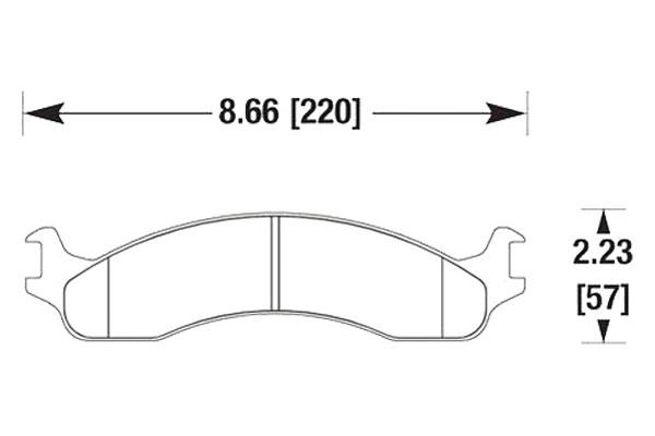 hawk brake pads diagrams HB334