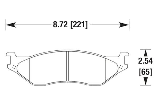 hawk brake pads diagrams HB335