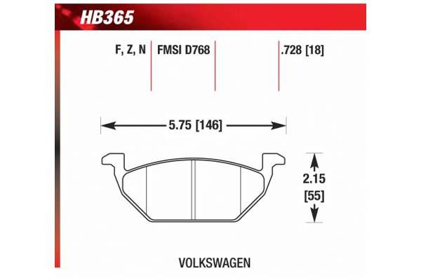 hawk brake pads diagrams HB365