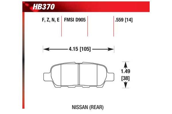 hawk brake pads diagrams HB370