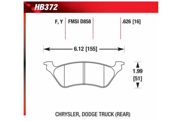 hawk brake pads diagrams HB372