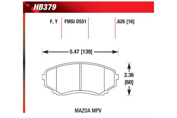 hawk brake pads diagrams HB379