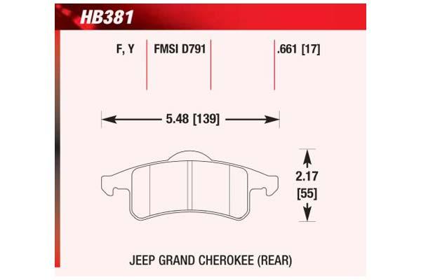 hawk brake pads diagrams HB381