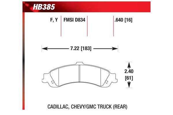 hawk brake pads diagrams HB385