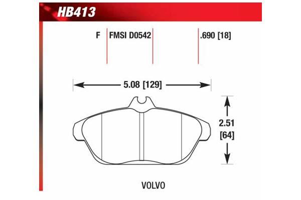 hawk brake pads diagrams HB413