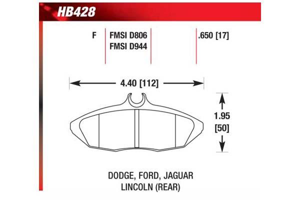 hawk brake pads diagrams HB428