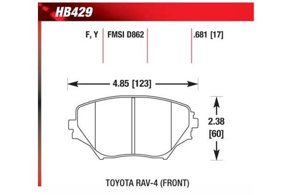 hawk brake pads diagrams HB429