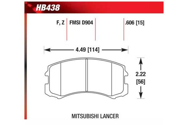 hawk brake pads diagrams HB438