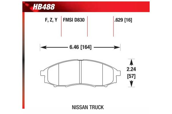hawk brake pads diagrams HB488