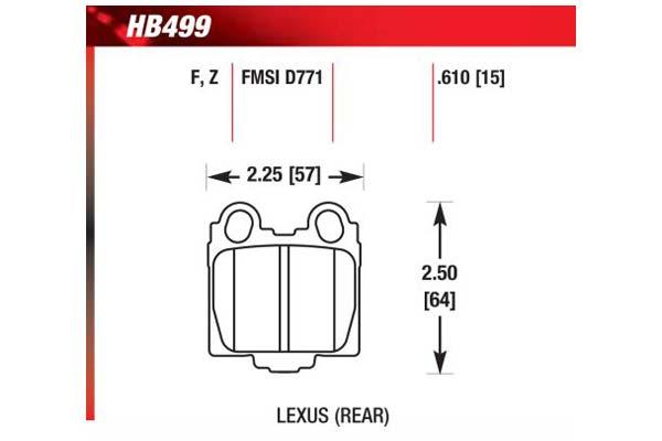 hawk brake pads diagrams HB499