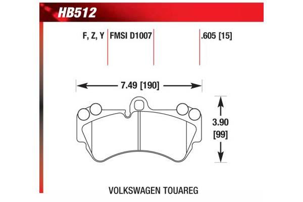 hawk brake pads diagrams HB512