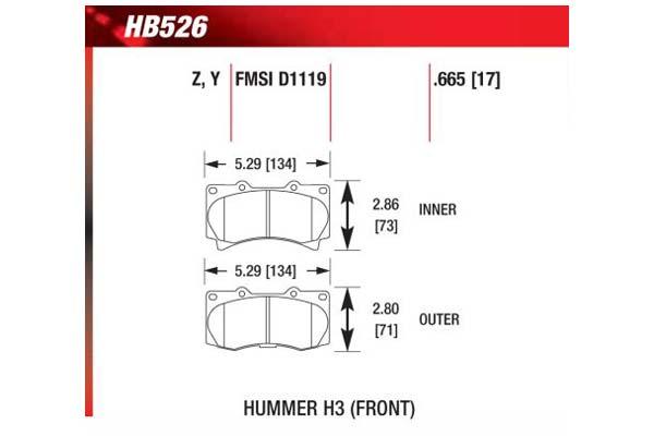 hawk brake pads diagrams HB526