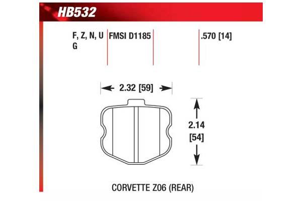 hawk brake pads diagrams HB532