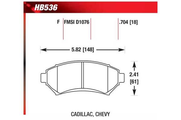hawk brake pads diagrams HB536
