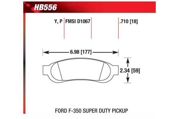 hawk brake pads diagrams HB556