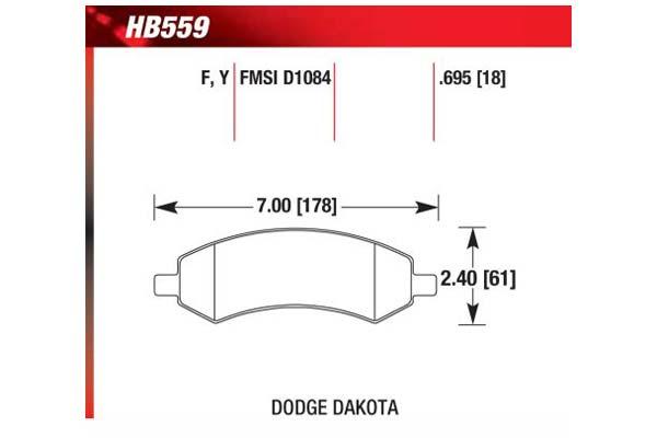 hawk brake pads diagrams HB559