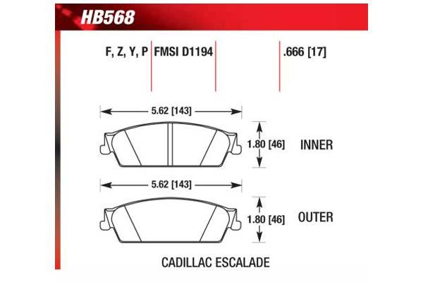 hawk brake pads diagrams HB568