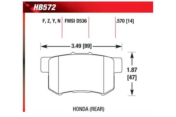 hawk brake pads diagrams HB572