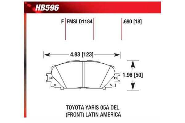 hawk brake pads diagrams HB596