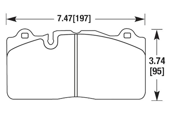 hawk brake pads diagrams HB631