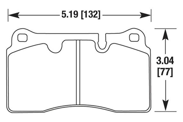 hawk brake pads diagrams HB632
