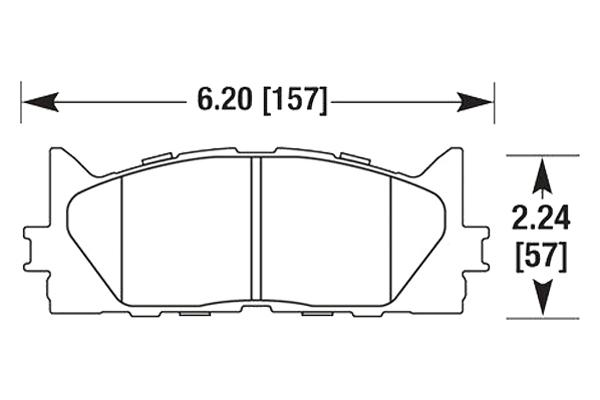 hawk brake pads diagrams HB647