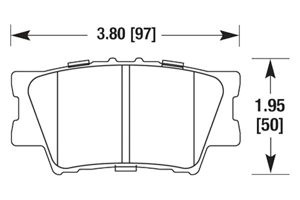 hawk brake pads diagrams HB648