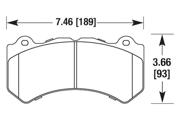 hawk brake pads diagrams HB649
