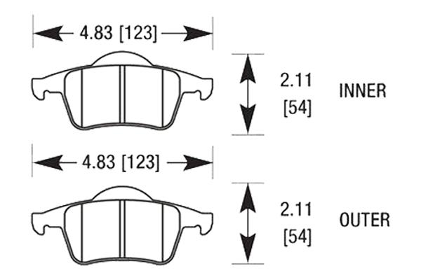 hawk brake pads diagrams HB652