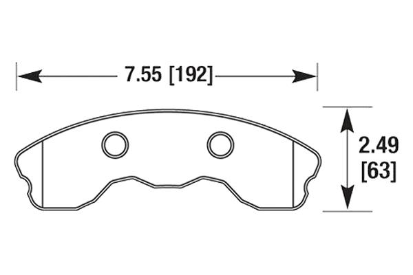 hawk brake pads diagrams HB658