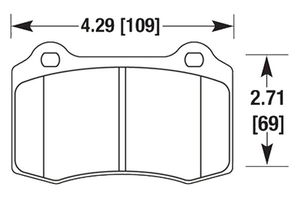hawk brake pads diagrams HB663