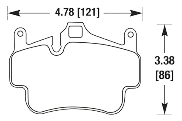 hawk brake pads diagrams HB664