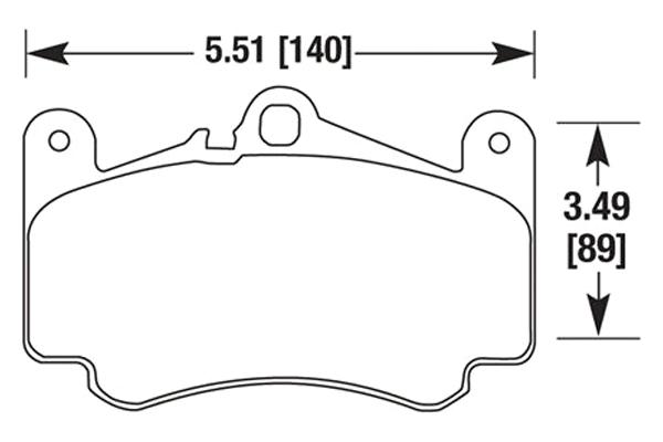 hawk brake pads diagrams HB667