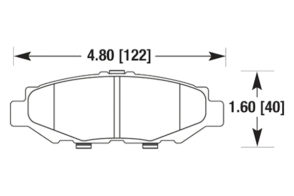 hawk brake pads diagrams HB670