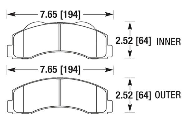 hawk brake pads diagrams HB672
