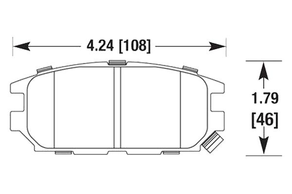 hawk brake pads diagrams HB673