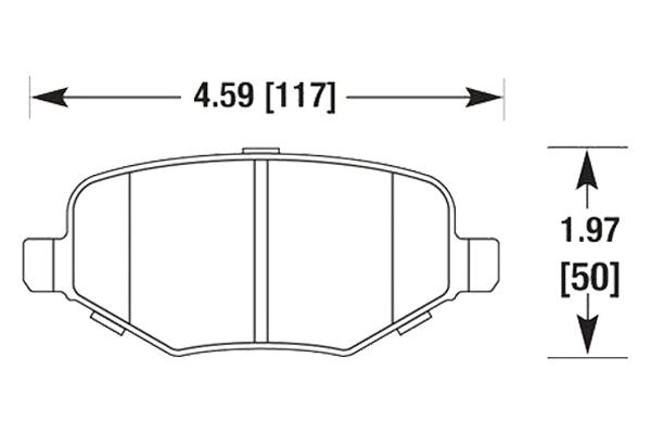hawk brake pads diagrams HB674