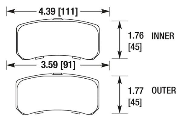 hawk brake pads diagrams HB675