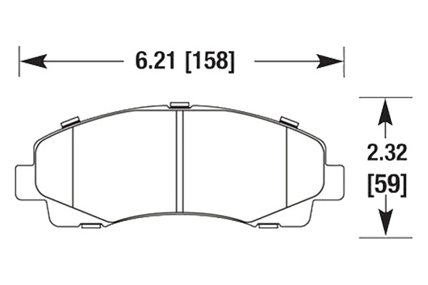 hawk brake pads diagrams HB678