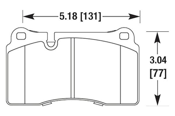 hawk brake pads diagrams HB683